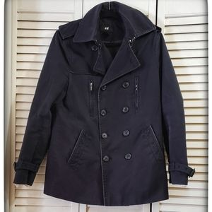 H&M black double breasted light jacket 36R